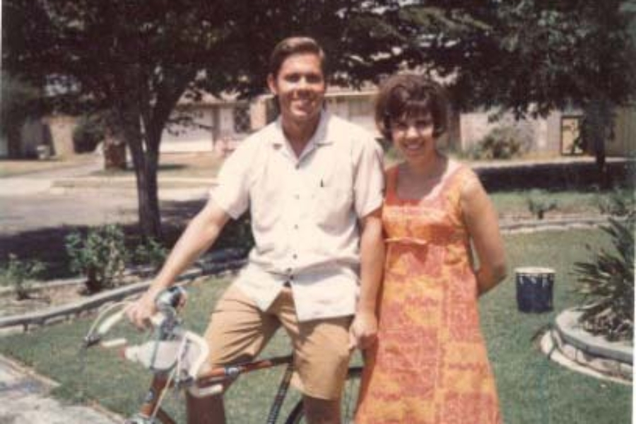 Judy's brother John rode his bike all the way from El Segundo to Canoga Park!